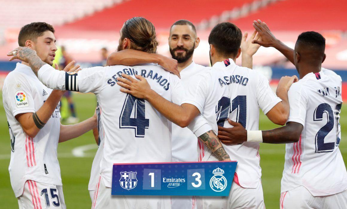 Golpe de autoridad del Real Madrid sobre Barcelona. Noticias en tiempo real