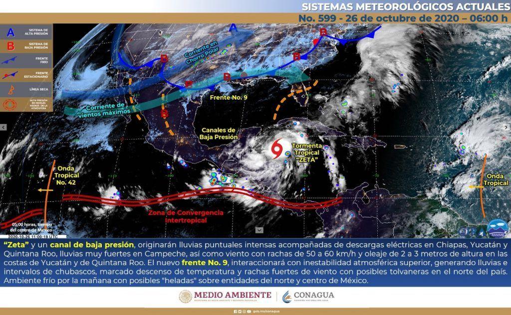 A las 12 del día Zeta se podría convertir en huracán categoría 1. Noticias en tiempo real