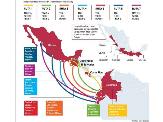 México y Colombia hallan rutas de tráfico vía marítima. Noticias en tiempo real