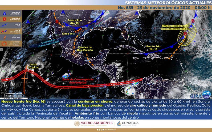 Chubascos este jueves en la península de Yucatán. Noticias en tiempo real