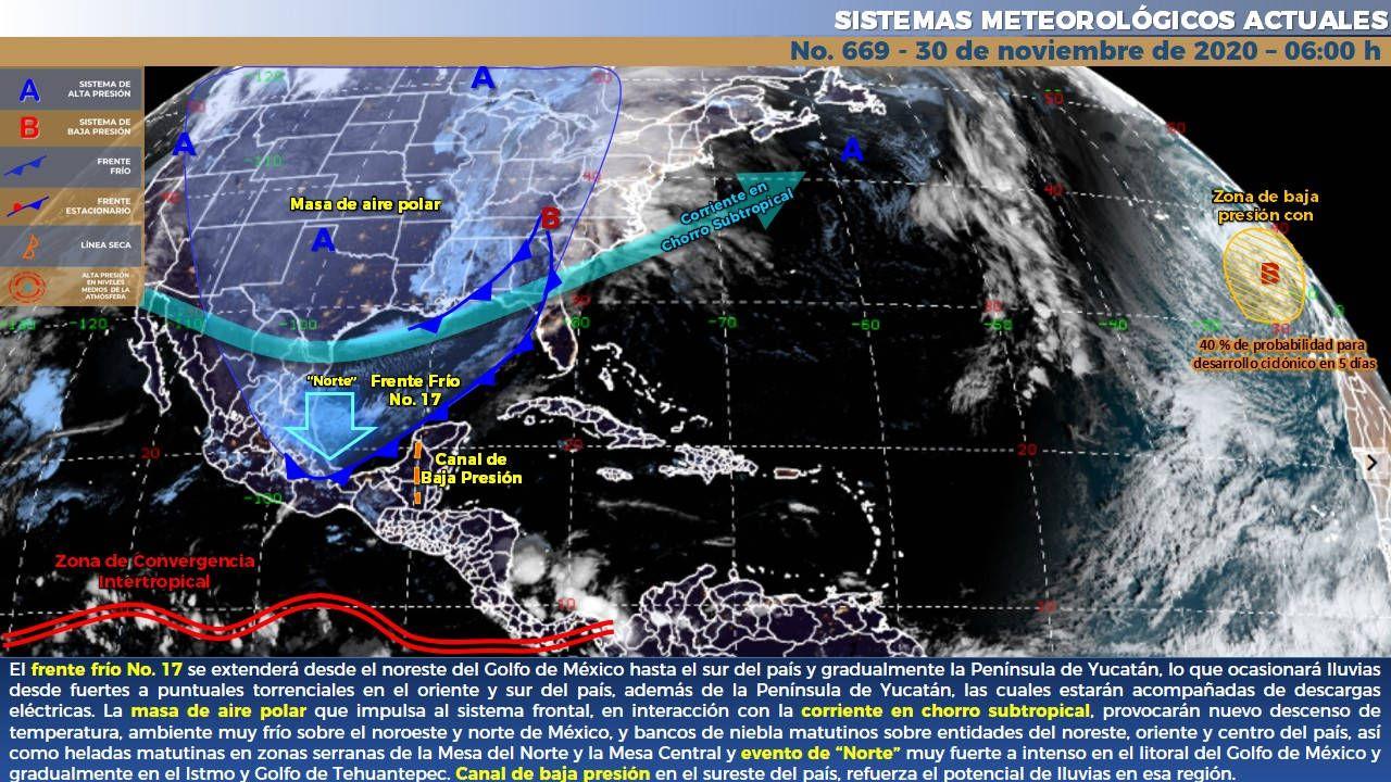 Lluvias intensas en Quintana Roo este lunes. Noticias en tiempo real