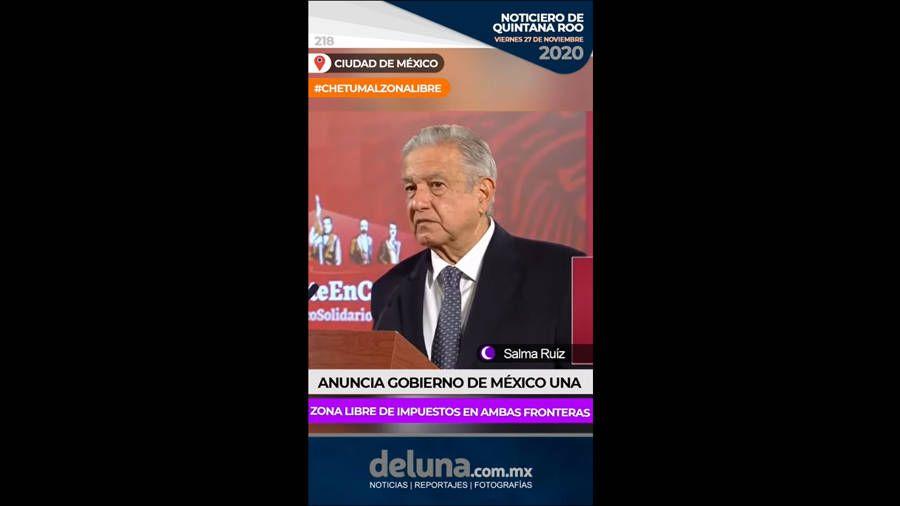 Noticiero de Quintana Roo | Viernes 27 de noviembre 2020. Noticias en tiempo real