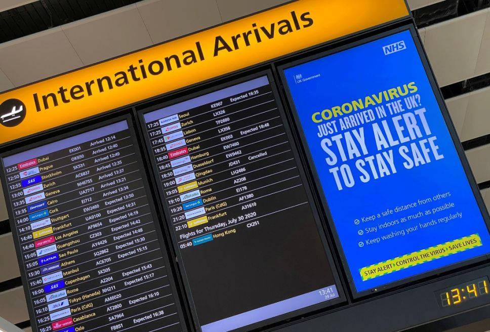 Reino Unido frena llegada de vuelos de Sudamérica