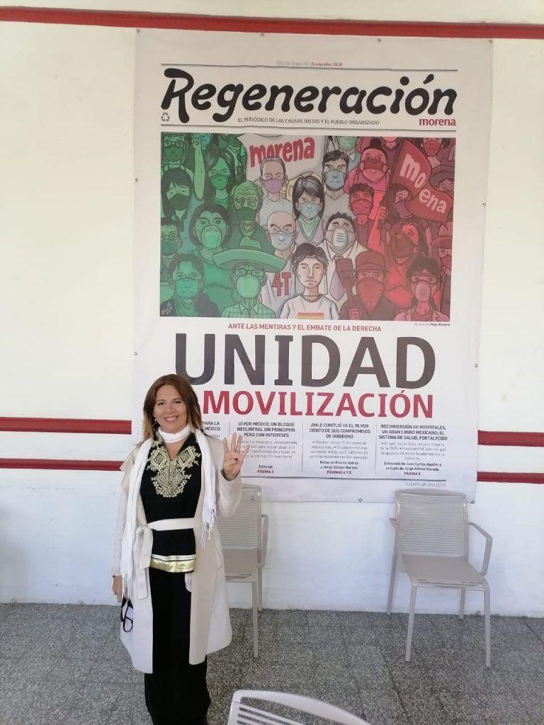 Valida Morena registro de Sonia López por el Distrito 1