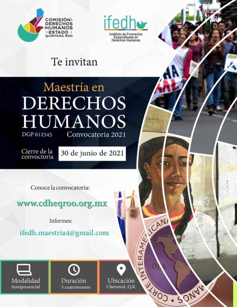 Habrá en Quintana Roo cuarta generación en maestría de Derechos Humanos