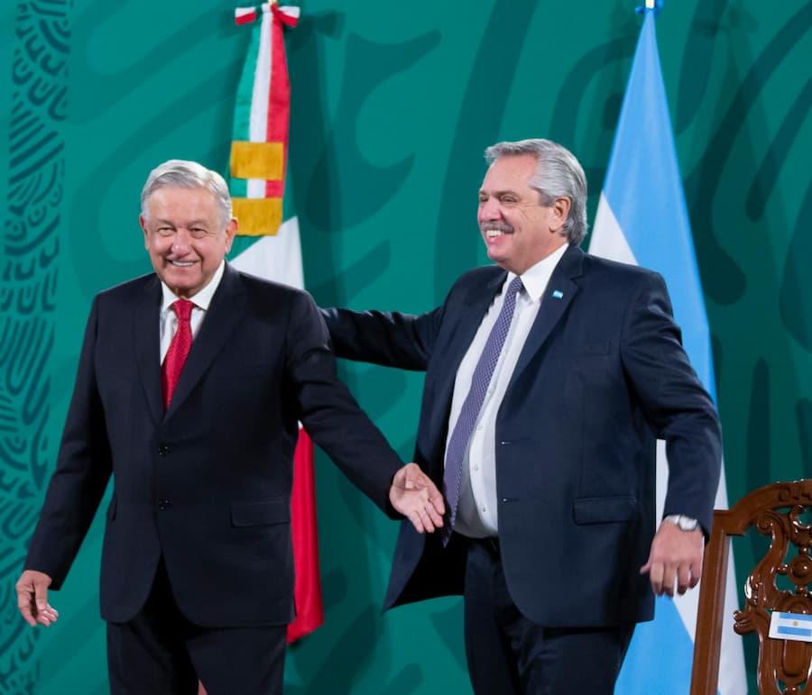 Se reúnen presidentes de México y Argentina en Palacio Nacional
